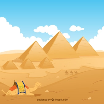 Egypt pyramids illustration