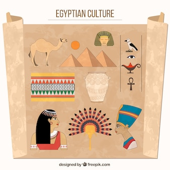 Egyptian culture drawings
