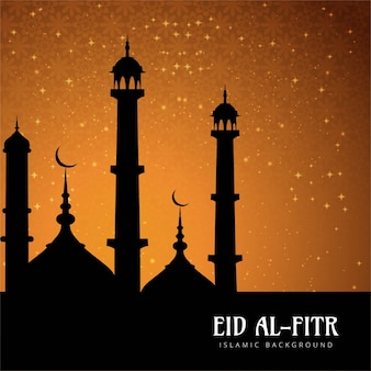 Eid al fitr background with lights