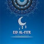 Eid al fitr blue background