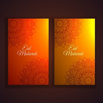 Eid festival flyers and banners set