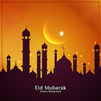 Eid mubarak sunset design