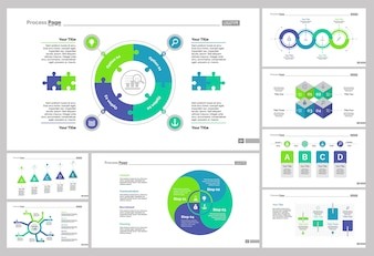 Eight Marketing Slide Templates Set