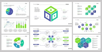 Eight Research Slide Templates Set