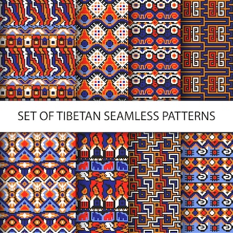 Eight tibetan patterns