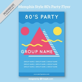 Eighties modern brochure in abstract style