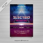 Eighties retro abstract shapes brochure