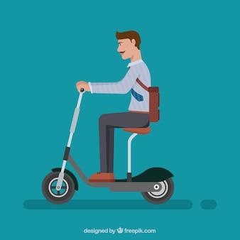 人と電気自転車のコンセプト