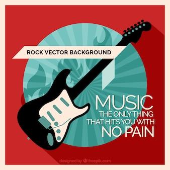 感動的なメッセージを持つエレキギターの背景