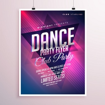 Electric poster for a dance party