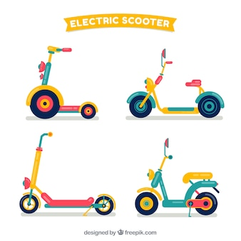 Electric scooters with colorful style