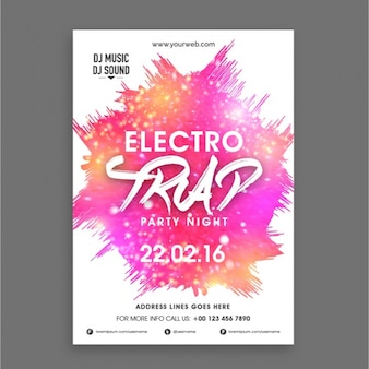 Electro party poster with abstract forms