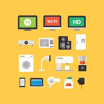 Electronic Appliance Icons