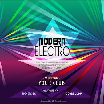 Electronic music party poster
