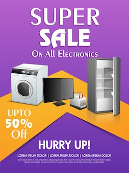 Electronic sale poster