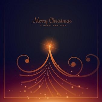 Elegant abstract christmas tree card