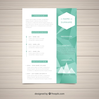 Elegant abstract curriculum template