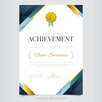 Elegant abstract diploma