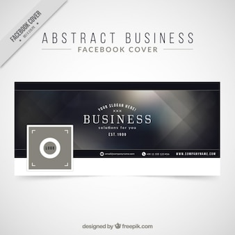 Elegant abstract facebook cover for business