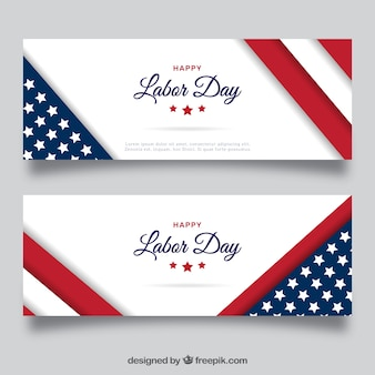 Elegant american banners of labor day