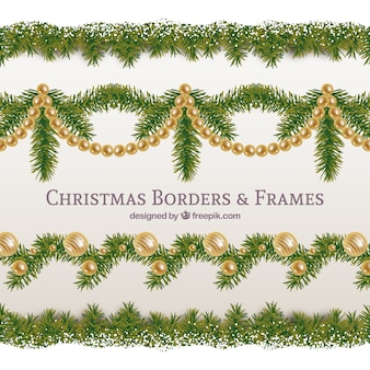 Elegant and golden christmas garland pack