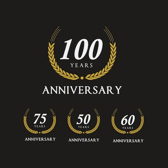 Elegant anniversary logos collection