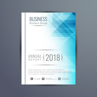 エレガントな年次報告書のパンフレットのテンプレート