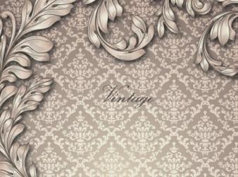 葉付きのエレガントなアンティークパターン