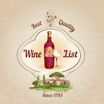 Elegant background about wine