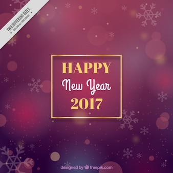 Elegant background for new year with a golden frame