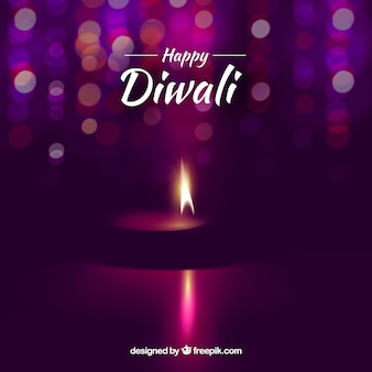 Elegant background of blurred diwali