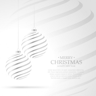 Elegant background with silver christmas ball