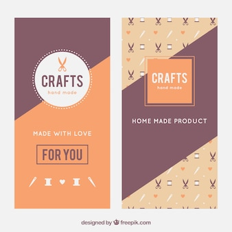 Elegant banners about crafts
