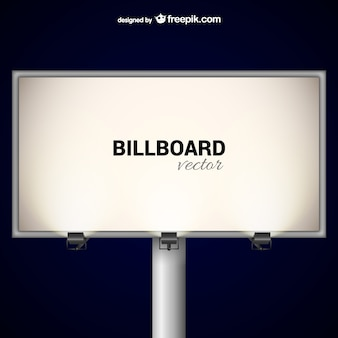 Elegant billboard with spotlights