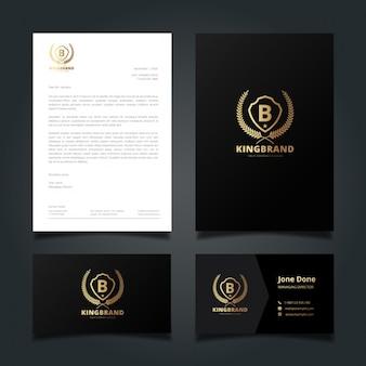 Elegant black corporate identity