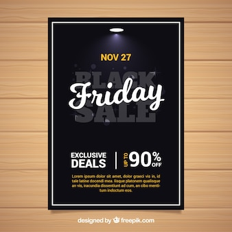 Elegant black friday poster template