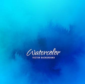 Elegant blue watercolor background design