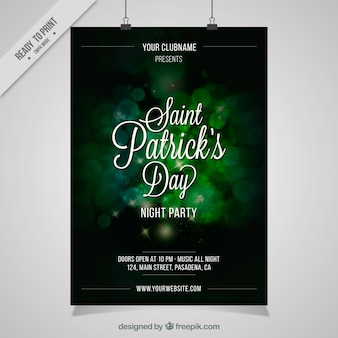 Elegant blurred party poster of saint patrick
