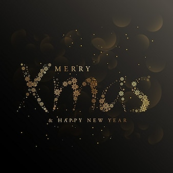 Elegant bokeh background for merry christmas and new year