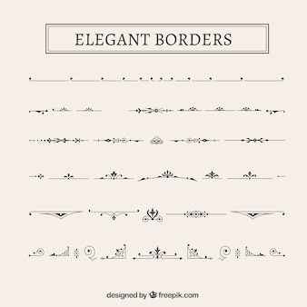 Elegant borders collection