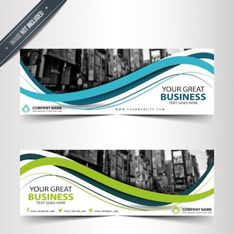 Elegant business banners templates