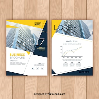 Elegant business brochure with abstract shapes