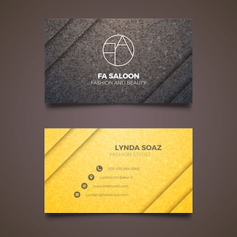 Elegant business card for fashion stylist