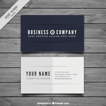 Elegant business card in flat design