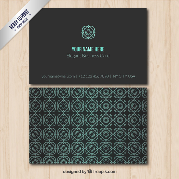 Elegant business card with geometrical pattern