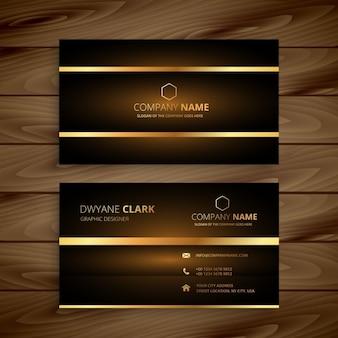 Elegant business card with golden line