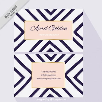 Elegant business card with lines