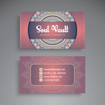 Elegant business card with mandala