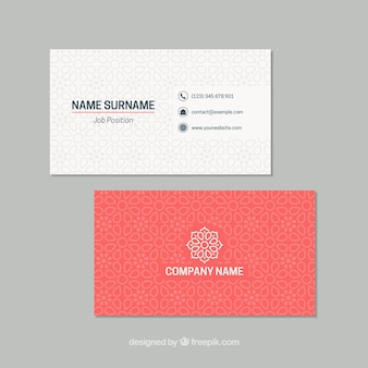 Elegant business card with mandala