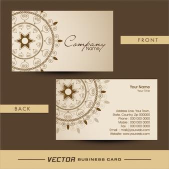 Elegant business card with ornamental decoration